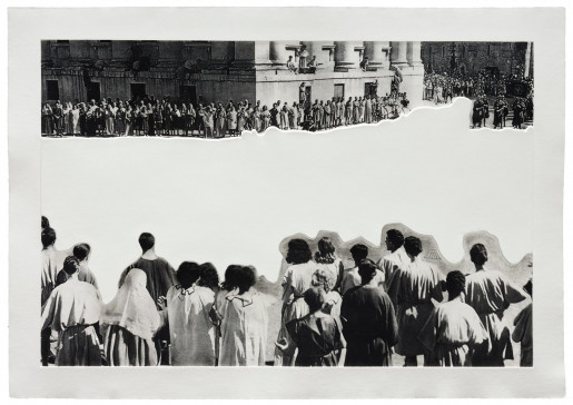 John Baldessari, Crowds with Shape of Reason Missing: Example 4, 2012