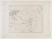 Flûtiste et Trois Femmes Nues (from the Suite Vollard)