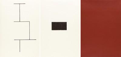 Mappe zur Wandmalerei, Hamburger Kunstverein (Jahn 33) by Blinky Palermo