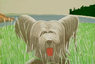 Dog at Duck Trap by Alex Katz