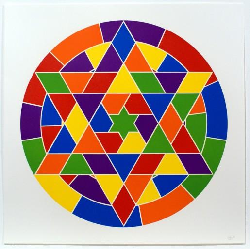 Sol LeWitt, Tondo 4 (6 point star), 2002