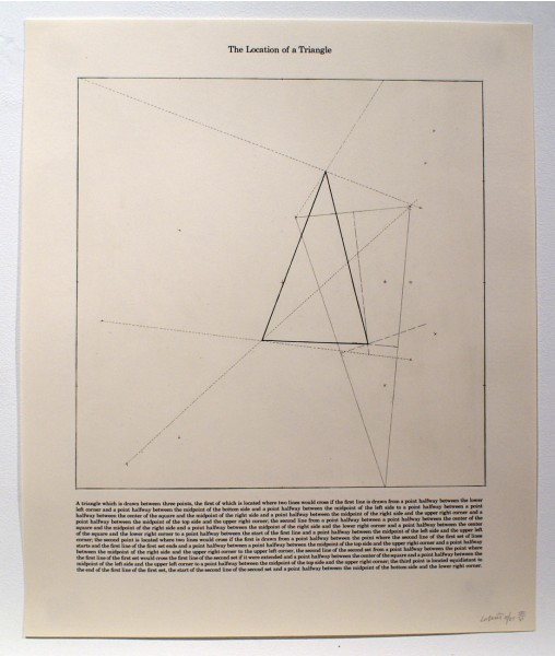 Sol LeWitt, The Location of a Triangle, 1975