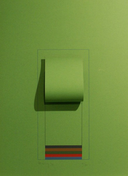 Robyn Denny, Mirrors (bright green), 1974