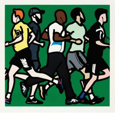 Runners (Running Men) by Julian Opie