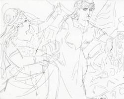 Brangäne & Isolde by Elizabeth Peyton