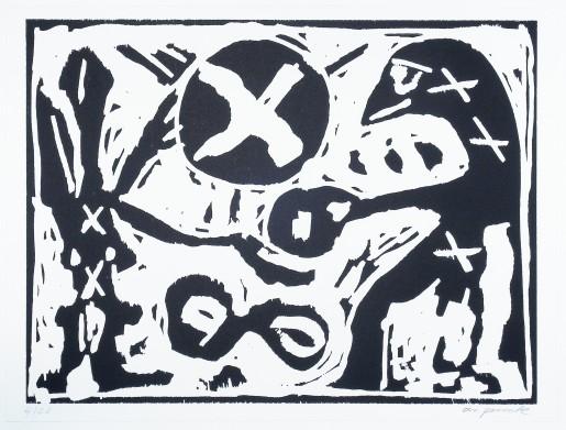 A.R. Penck, Gib her (da hast du), 1991