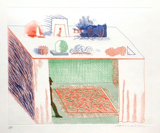 "David Hockney, In a Chiaroscuro (from ""The Blue Guitar"" portfolio), 1976-77"