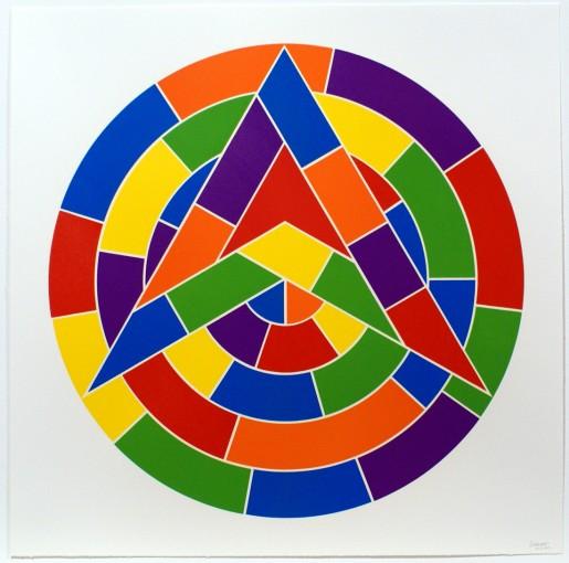 Sol LeWitt, Tondo 1 (3 point star), 2002