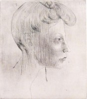 Head of Woman, In Profile / Tête de femme, de profil