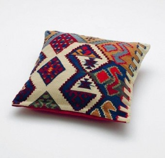 Georges Pillow (Replica of a pillow from George Lukács sofa in his study at Belgrad Kai, Budapest) by Olaf Nicolai