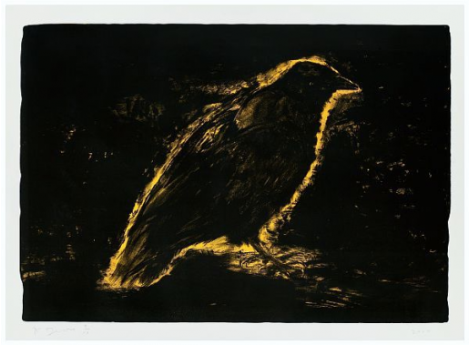 Jim Dine, Raven, Suns Night Glow, 2000