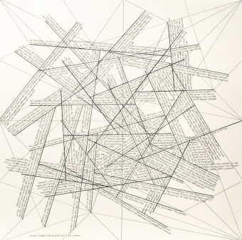 The Location of Lines. Lines from the Midpoints of Lines. by Sol LeWitt