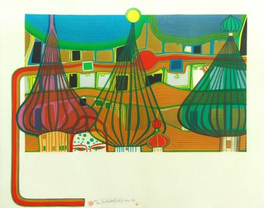Friedensreich Hundertwasser, Die Vertreibung (The Expulsion), 1967