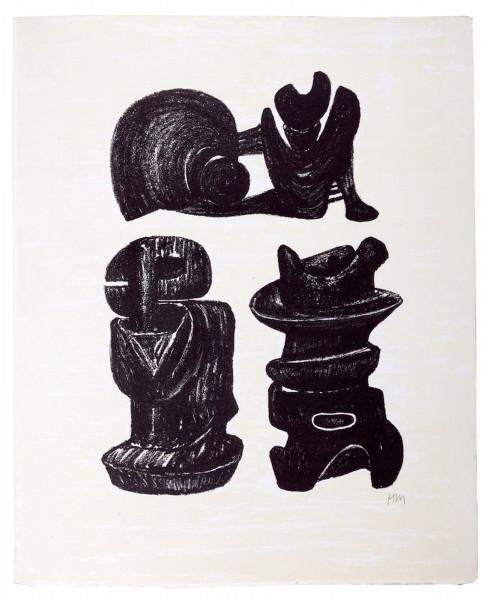 Henry Moore, Three Sculpural Forms, 1975