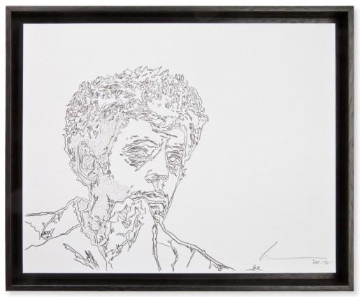Robert Wilson, Portrait of Philip Glass, 2012