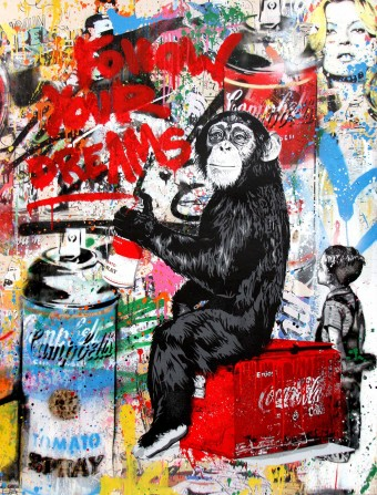 Every Day Life - Follow Your Dreams (Campbell's Soup) by Mr. Brainwash
