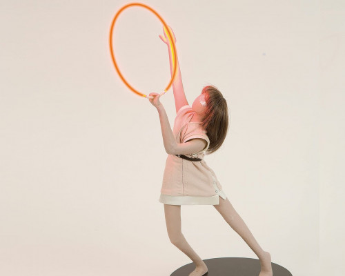 A Portable Apocalypse Ballet (Red Ring) by Mai-Thu Perret