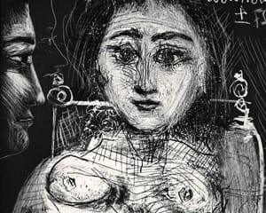 Femme assise dans un fauteuil (Portrait de Jacqueline au fauteuil) by Pablo Picasso