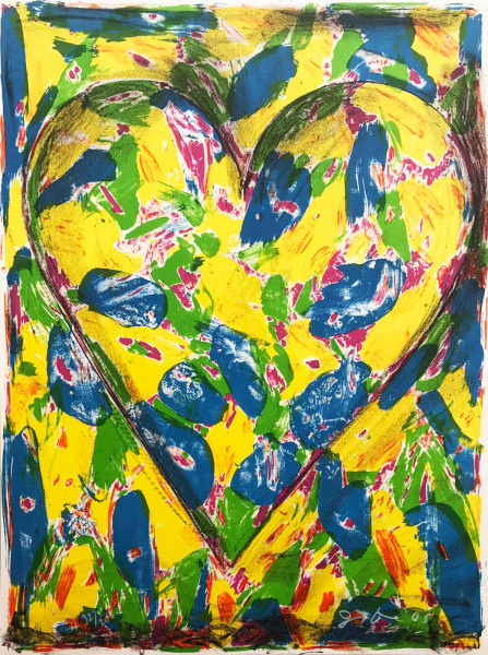 Jim Dine, The Blue Heart, 2005
