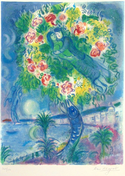 Marc Chagall, Couple et Poisson (Couple and Fish), From Nice and the Cote d'Azur, 1964