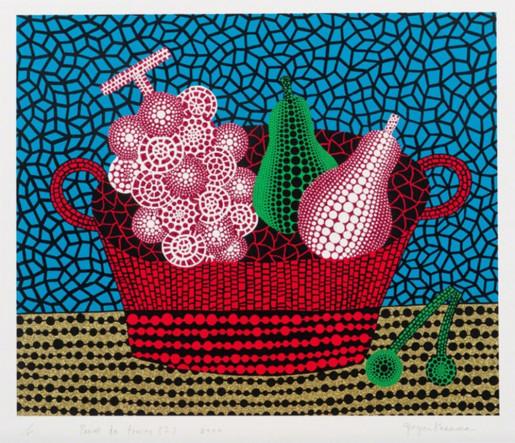Yayoi Kusama, Panier de fruits I, 2000