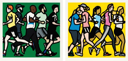 Julian Opie, Runners, 2016