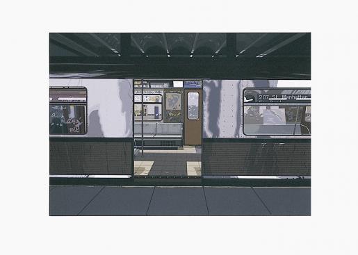 "Richard Estes, ""Subway"" from the Portfolio ""Urban Landscape III"", 1981"