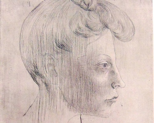 Pablo Picasso, Head of Woman, In Profile / Tête de femme, de profil, 1905