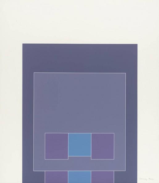 Robyn Denny, Waddington Suite (blue/grey/purple), 1968-9