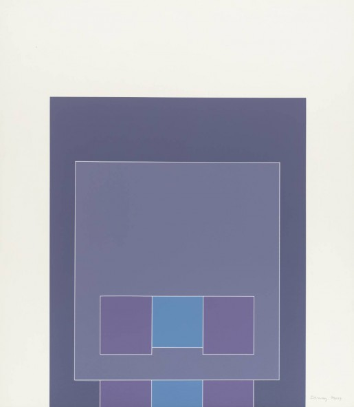 Robyn Denny, Waddington Suite (blue/grey/purple), 1968-9