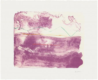 Lilac Sweep by Helen Frankenthaler