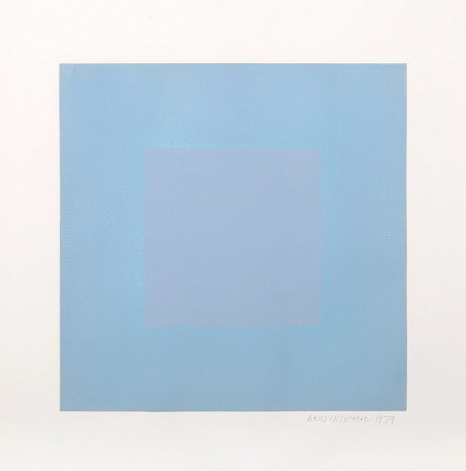 Richard Anuszkiewicz, Winter Suite (Light Blue with Blue), 1979