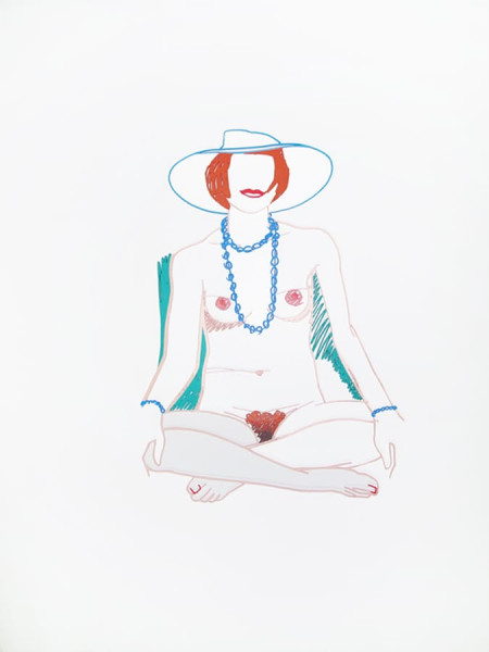 Tom Wesselmann, Monica Cross-legged with Beads, 1985/2004