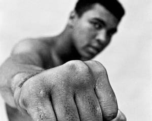 Ali Right Fist, London by Thomas Hoepker