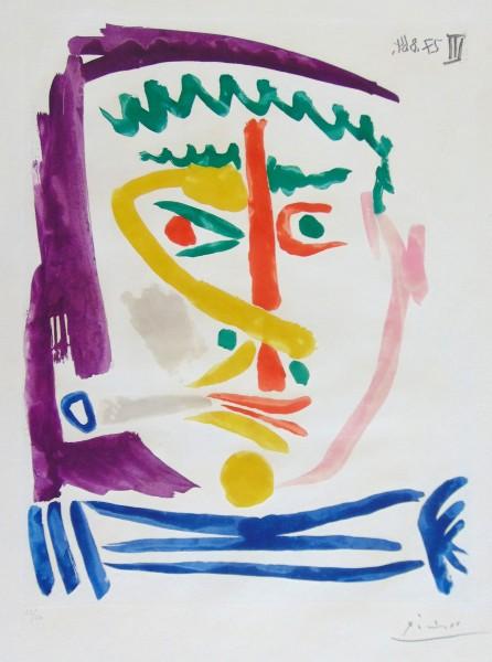 Pablo Picasso, Smoker III | Fumeur III, 1964