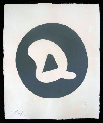 """Untitled, from """"Le Soleil Recerclé"""" by Hans Arp"""