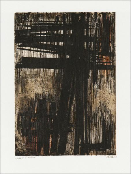 Pierre Soulages, Eau-Forte VII, 1957