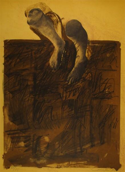 Rafael Canogar, El caminante, 1975