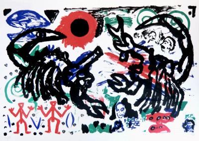 Kämpfende Skorpione by A.R. Penck
