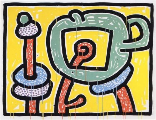 Keith Haring, Flowers III, 1990