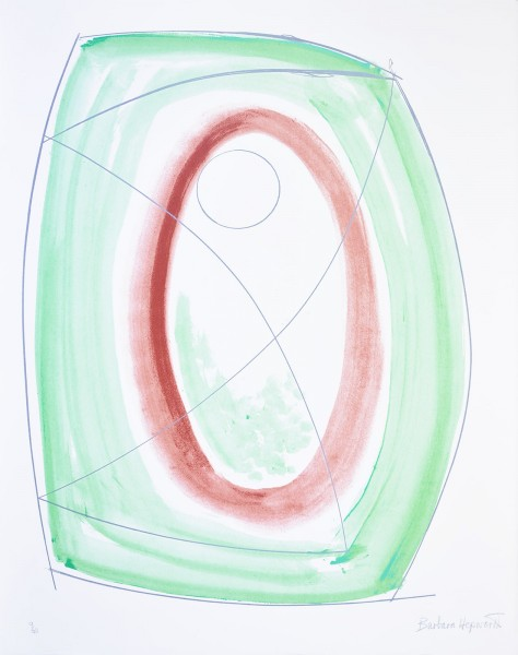"Barbara Hepworth, November Green, from the Portfolio ""Opposing Forms"", 1970"