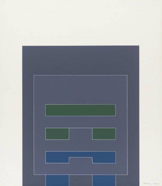 Robyn Denny, Waddington Suite (grey/blue/green), 1968-9
