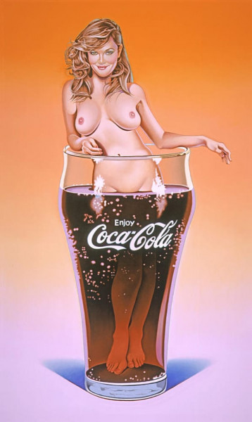 Mel Ramos, Lola Cola - The Pause That Refreshes #2, 2005