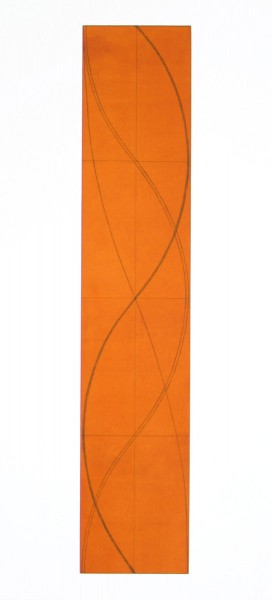 Robert Mangold, Half Column B (Orange), 2005