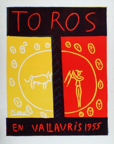 Pablo Picasso, Toros en Vallauris, 1955