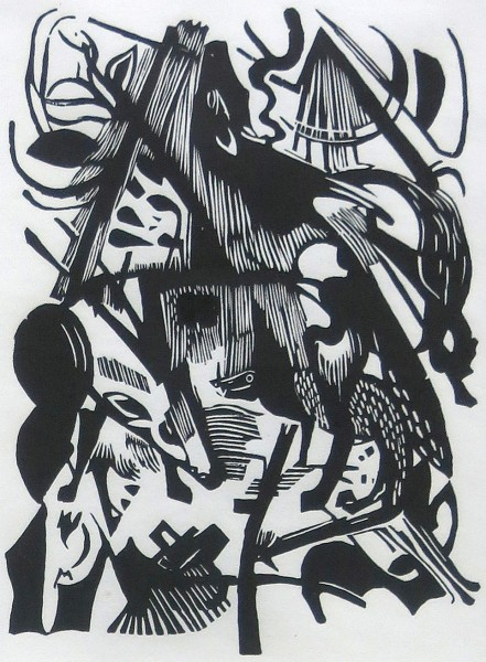 Franz Marc, Geburt der Wölfe, 1913/1984