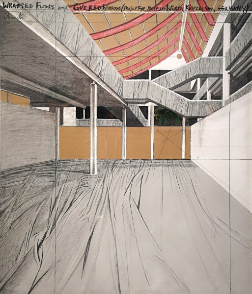 Christo, Wrapped Floors and Covered Windows, Project for Museum Würth, 1995