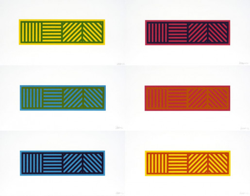 Sol LeWitt, Lines in Four Directions in Color on Color, 2004