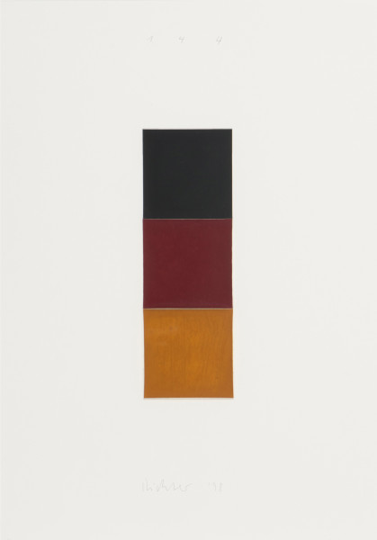 Gerhard Richter, Schwarz, Rot, Gold I [Black, Red, Gold I], 1998