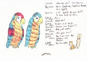 2 Genetically modified parrots